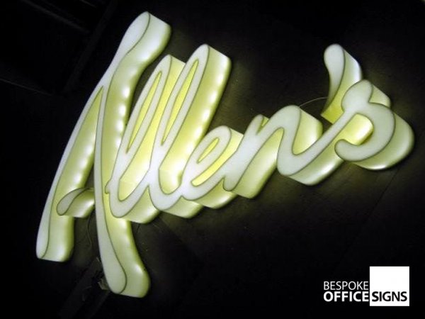 Illuminated Office Wall Signs | Illuminated Business Signs UK