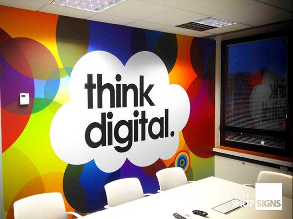 Vinyl Office Wall Logos