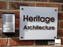 Heritage white plaque