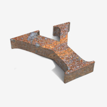 Rusty 3D metal office sign
