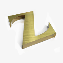 Brushed Gold 3D office Sign