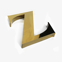 Polished Gold 3D Office Sign