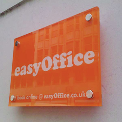 acrylic office wall plaque