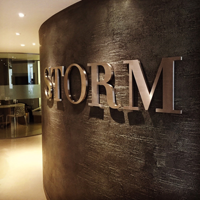 storm metal office logo